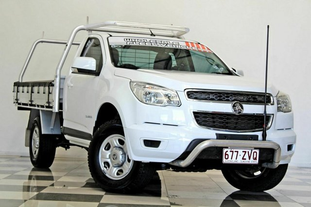 Used Holden Colorado RG MY15 LS (4x2) Burleigh Heads, 2015 Holden Colorado RG MY15 LS (4x2) White 6 Speed Automatic Cab Chassis