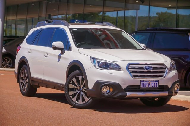 Used Subaru Outback B6A MY17 2.5i CVT AWD Premium Gosnells, 2017 Subaru Outback B6A MY17 2.5i CVT AWD Premium White 6 Speed Constant Variable Wagon