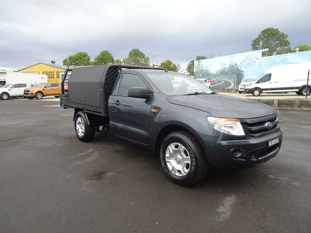 Used Ford Ranger PX XL Nowra, 2013 Ford Ranger PX XL Grey 6 Speed Manual Cab Chassis
