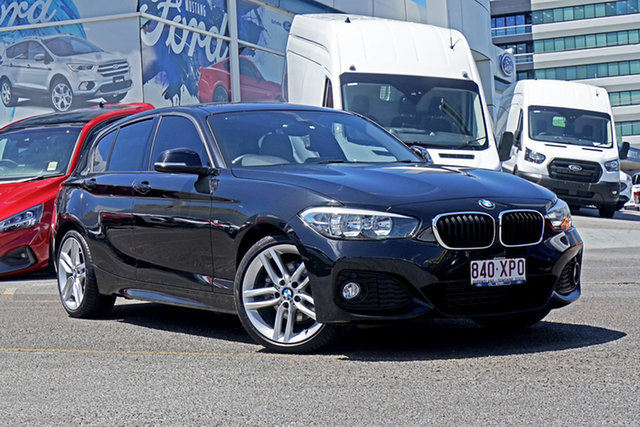 Used BMW 1 Series F20 LCI 120i Steptronic Sport Line Springwood, 2016 BMW 1 Series F20 LCI 120i Steptronic Sport Line Black 8 Speed Sports Automatic Hatchback