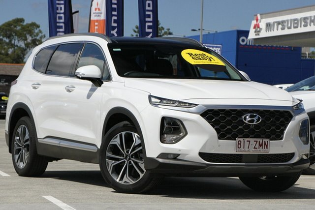 Used Hyundai Santa Fe TM.2 MY20 Highlander Aspley, 2019 Hyundai Santa Fe TM.2 MY20 Highlander White Cream 8 Speed Sports Automatic Wagon