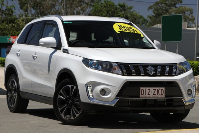 Used Suzuki Vitara LY Series II Turbo 2WD Aspley, 2019 Suzuki Vitara LY Series II Turbo 2WD Pearl White 6 Speed Sports Automatic Wagon