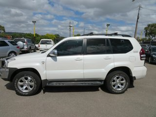 2007 Toyota Landcruiser Prado KDJ120R 07 Upgrade Grande (4x4) White 5 Speed Automatic Wagon