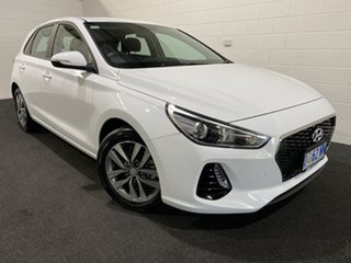 2019 Hyundai i30 PD2 MY19 Active Polar White 6 Speed Sports Automatic Hatchback.