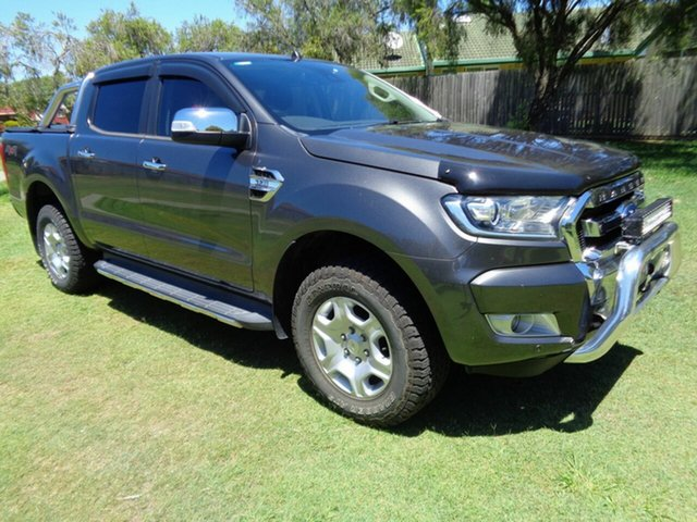 Used Ford Ranger PX MkII 2018.00MY XLT Double Cab Kippa-Ring, 2017 Ford Ranger PX MkII 2018.00MY XLT Double Cab Grey 6 Speed Sports Automatic Utility