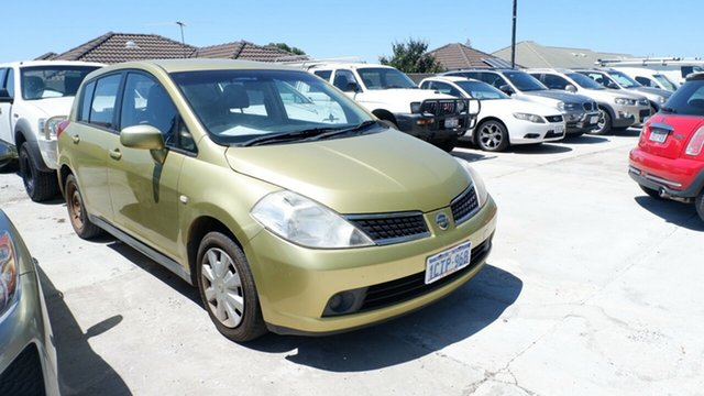 Used Nissan Tiida C11 MY07 ST St James, 2008 Nissan Tiida C11 MY07 ST Green 6 Speed Manual Hatchback