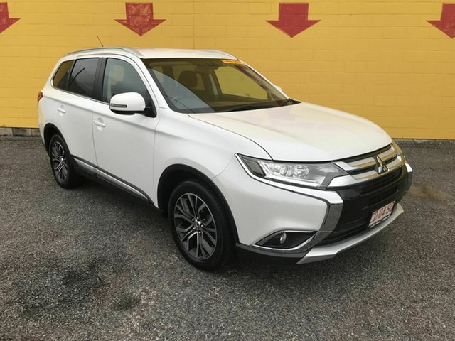 Used Mitsubishi Outlander ZK MY16 XLS 4WD Winnellie, 2016 Mitsubishi Outlander ZK MY16 XLS 4WD White 6 Speed Sports Automatic Wagon