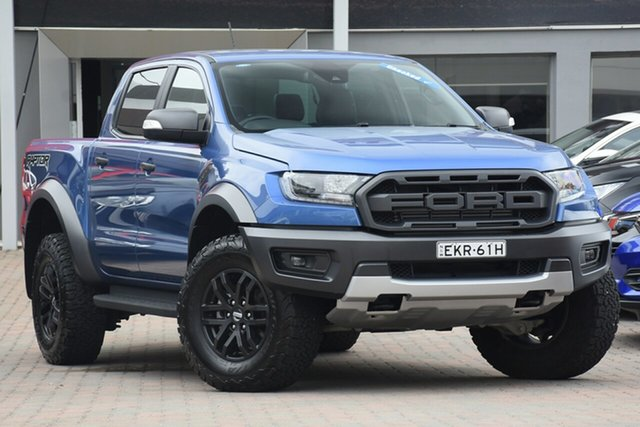 Used Ford Ranger PX MkIII 2019.00MY Raptor Parramatta, 2019 Ford Ranger PX MkIII 2019.00MY Raptor Blue 10 Speed Sports Automatic Double Cab Pick Up