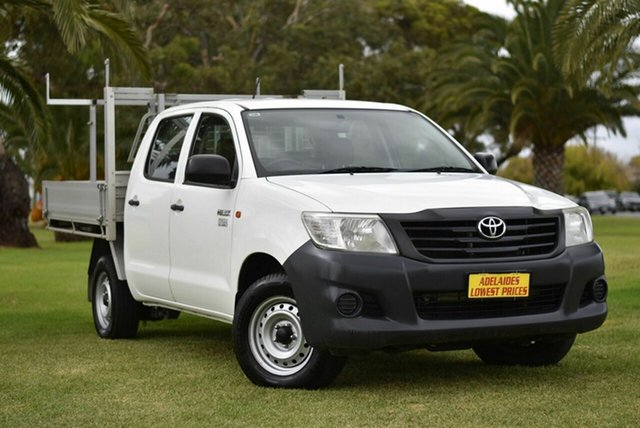 Used Toyota Hilux TGN16R MY12 Workmate Double Cab 4x2 Cheltenham, 2013 Toyota Hilux TGN16R MY12 Workmate Double Cab 4x2 White 5 Speed Manual Utility