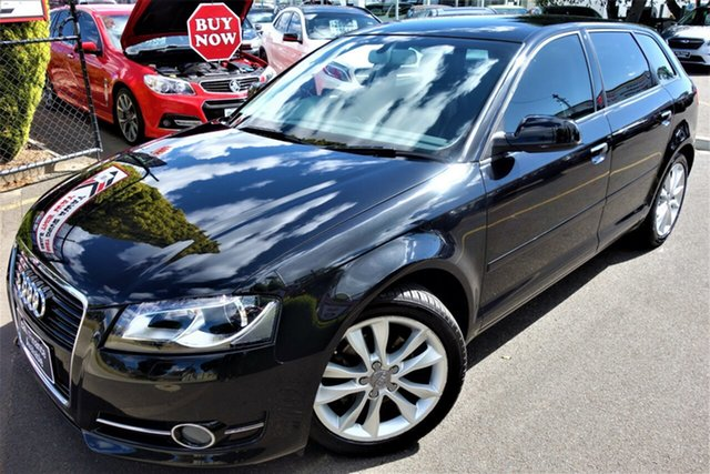 Used Audi A3 8P MY11 Attraction Sportback S Tronic Seaford, 2011 Audi A3 8P MY11 Attraction Sportback S Tronic Black 7 Speed Sports Automatic Dual Clutch