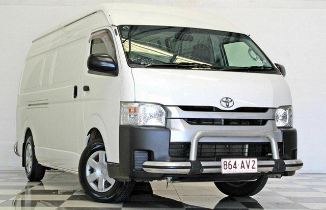 Used Toyota HiAce KDH221R MY14 SLWB Burleigh Heads, 2014 Toyota HiAce KDH221R MY14 SLWB White 5 Speed Manual Van