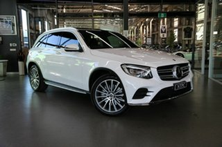 2018 Mercedes-Benz GLC-Class X253 809MY GLC250 9G-Tronic 4MATIC White 9 Speed Sports Automatic Wagon.
