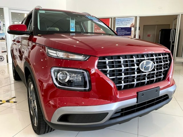 New Hyundai Venue QX.V3 MY21 Elite Mount Gravatt, 2021 Hyundai Venue QX.V3 MY21 Elite Fiery Red 6 Speed Automatic Wagon