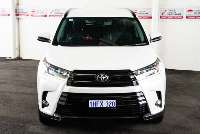 Pre-Owned Toyota Kluger GSU50R Black Edition 2WD Myaree, 2019 Toyota Kluger GSU50R Black Edition 2WD Crystal Pearl 8 Speed Sports Automatic Wagon