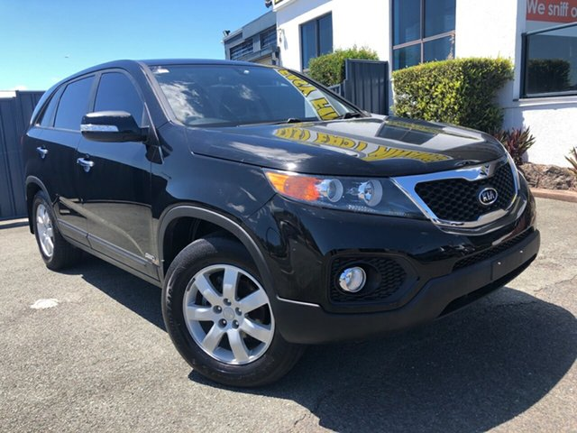 Used Kia Sorento XM MY12 SI Slacks Creek, 2012 Kia Sorento XM MY12 SI Black 6 Speed Manual Wagon