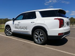 2020 Hyundai Palisade LX2.V1 MY21 Highlander AWD White Cream 8 Speed Sports Automatic Wagon