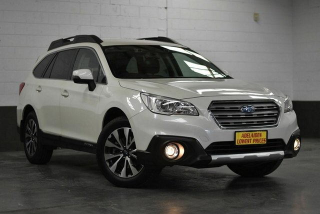 Used Subaru Outback B6A MY16 2.5i CVT AWD Morphett Vale, 2016 Subaru Outback B6A MY16 2.5i CVT AWD White 6 Speed Constant Variable Wagon