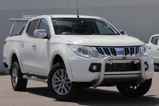 2016 Mitsubishi Triton MQ MY17 GLS Double Cab White 5 Speed Sports Automatic Utility.