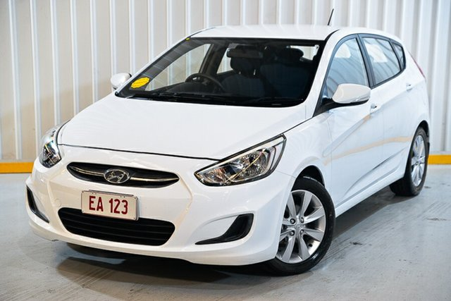 Used Hyundai Accent RB4 MY17 Active Hendra, 2017 Hyundai Accent RB4 MY17 Active White 6 Speed Constant Variable Hatchback