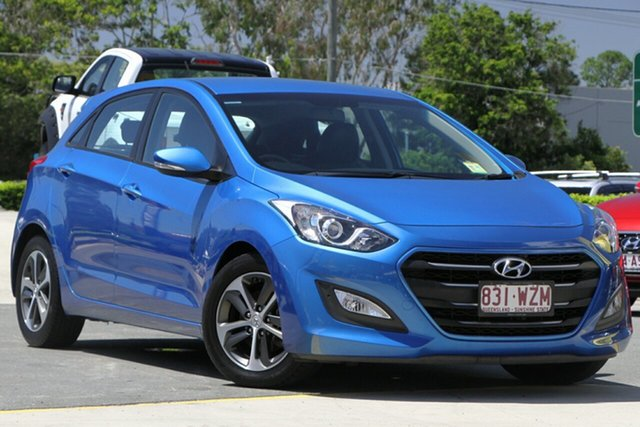 Used Hyundai i30 GD4 Series II MY17 Active X Aspley, 2016 Hyundai i30 GD4 Series II MY17 Active X Blue 6 Speed Sports Automatic Hatchback