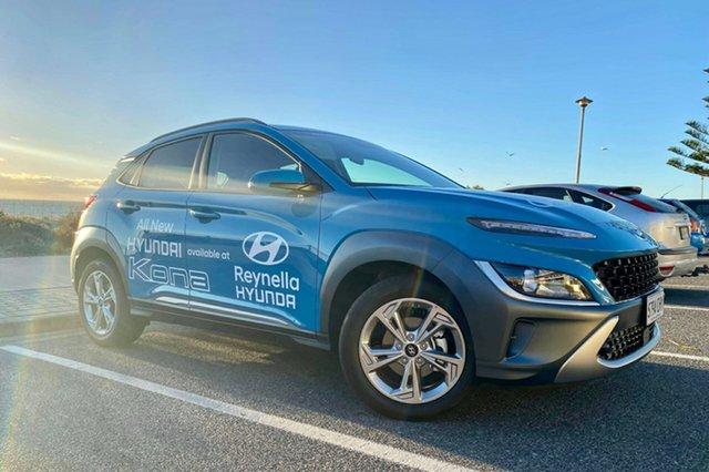Demo Hyundai Kona Os.v4 MY21 Elite (FWD) Reynella, 2020 Hyundai Kona Os.v4 MY21 Elite (FWD) Dive in Jeju Continuous Variable Wagon