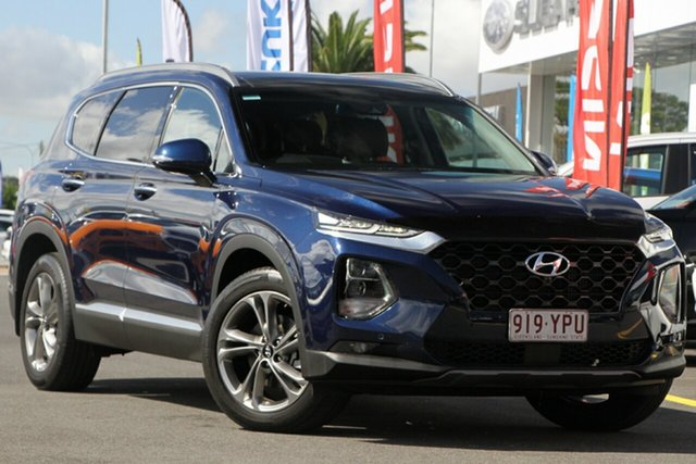 Used Hyundai Santa Fe TM MY19 Highlander Aspley, 2019 Hyundai Santa Fe TM MY19 Highlander Blue 8 Speed Sports Automatic Wagon
