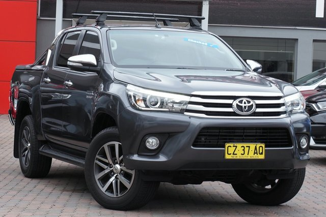 Used Toyota Hilux GUN126R SR5 Double Cab Parramatta, 2015 Toyota Hilux GUN126R SR5 Double Cab Grey 6 Speed Sports Automatic Utility