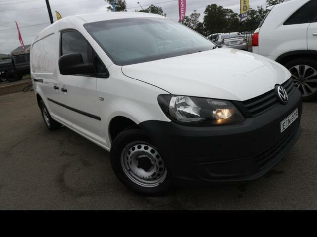 Used Volkswagen Caddy 2K MY15 Maxi TDI250 Kingswood, 2014 Volkswagen Caddy 2K MY15 Maxi TDI250 White 7 Speed Auto Direct Shift Van
