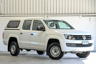 2016 Volkswagen Amarok 2H MY16 TDI420 4x2 White 8 Speed Automatic Cab Chassis.