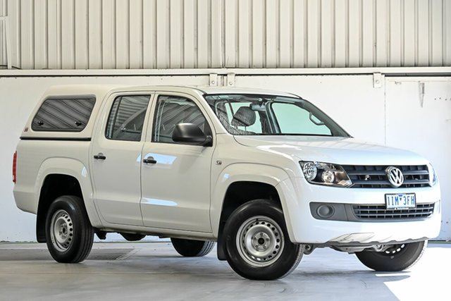 Used Volkswagen Amarok 2H MY16 TDI420 4x2 Laverton North, 2016 Volkswagen Amarok 2H MY16 TDI420 4x2 White 8 Speed Automatic Cab Chassis