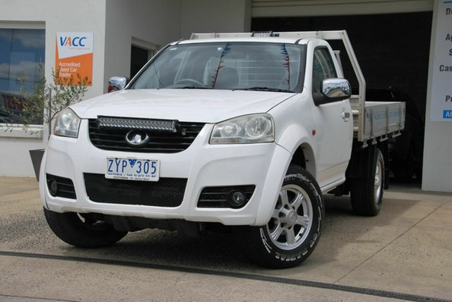 Used Great Wall V240 K2 MY11 (4x2) Wendouree, 2012 Great Wall V240 K2 MY11 (4x2) White 5 Speed Manual Cab Chassis