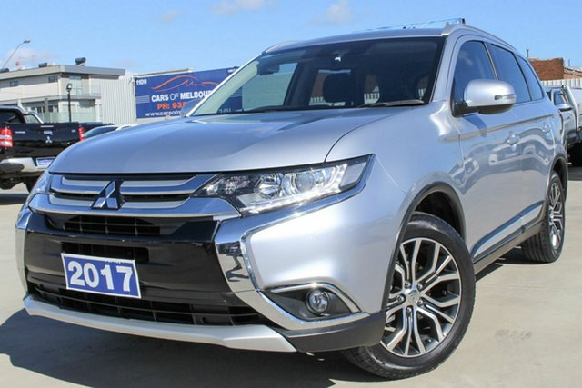 Used Mitsubishi Outlander ZK MY17 LS 2WD Safety Pack Coburg North, 2017 Mitsubishi Outlander ZK MY17 LS 2WD Safety Pack Silver 6 Speed Constant Variable Wagon