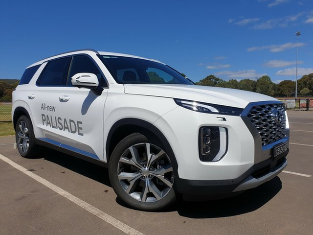 Demo Hyundai Palisade LX2.V1 MY21 Highlander AWD St Marys, 2020 Hyundai Palisade LX2.V1 MY21 Highlander AWD White Cream 8 Speed Sports Automatic Wagon