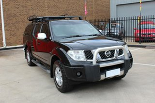 2009 Nissan Navara D40 ST-X (4x4) Black 5 Speed Automatic Dual Cab Pick-up.