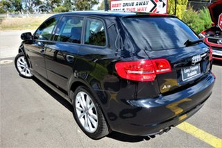 2011 Audi A3 8P MY11 Attraction Sportback S Tronic Black 7 Speed Sports Automatic Dual Clutch