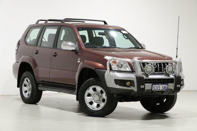 Used Toyota Landcruiser Prado KDJ120R 07 Upgrade GX (4x4) Bentley, 2008 Toyota Landcruiser Prado KDJ120R 07 Upgrade GX (4x4) Red 6 Speed Manual Wagon