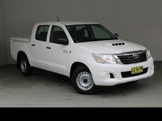 2015 Toyota Hilux KUN16R MY14 SR Glacier White 5 Speed Manual Dual Cab Pick-up