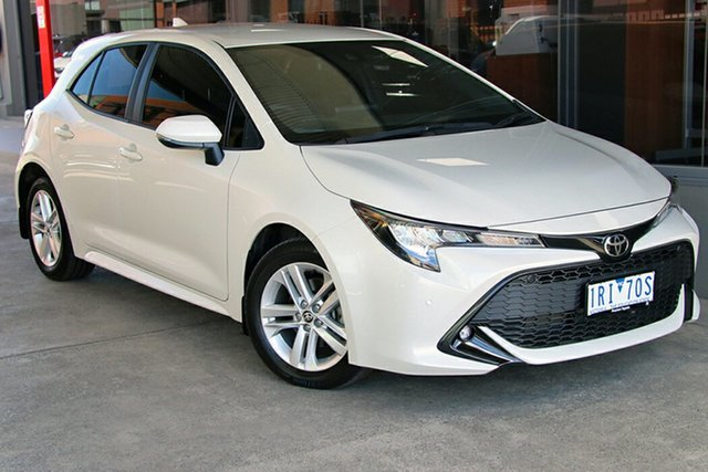 Pre-Owned Toyota Corolla Mzea12R SX Preston, 2019 Toyota Corolla Mzea12R SX Crystal Pearl 10 Speed Constant Variable Hatchback