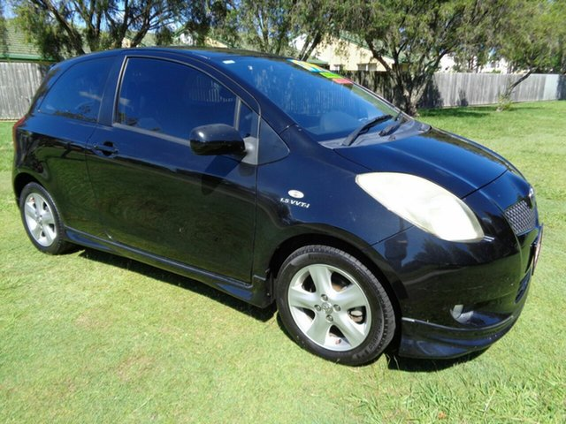 Used Toyota Yaris NCP91R YRX Kippa-Ring, 2006 Toyota Yaris NCP91R YRX Black 5 Speed Manual Hatchback