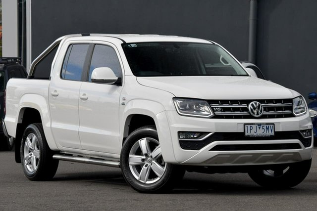 Used Volkswagen Amarok 2H MY19 TDI550 4MOTION Perm Highline Moorabbin, 2019 Volkswagen Amarok 2H MY19 TDI550 4MOTION Perm Highline White 8 Speed Automatic Utility