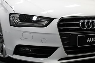 2014 Audi A4 B8 8K MY14 S Tronic Quattro White 7 Speed Sports Automatic Dual Clutch Sedan.