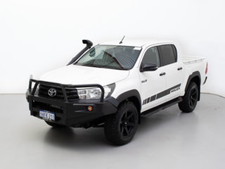 2018 Toyota Hilux GUN125R MY17 Workmate (4x4) White 6 Speed Manual Dual Cab Utility