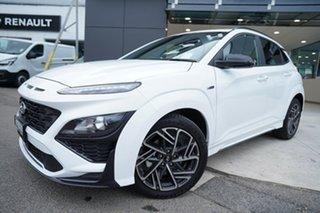 2020 Hyundai Kona Os.v4 MY21 N-Line D-CT AWD Atlas White 7 Speed Sports Automatic Dual Clutch Wagon.