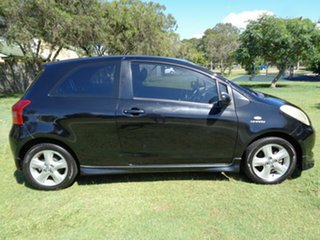 2006 Toyota Yaris NCP91R YRX Black 5 Speed Manual Hatchback.