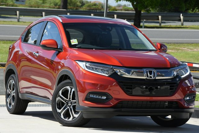 Demo Honda HR-V MY21 VTi-LX North Lakes, 2020 Honda HR-V MY21 VTi-LX Passion Red 1 Speed Constant Variable Hatchback