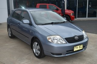 2003 Toyota Corolla ZZE122R Ascent Silver 4 Speed Automatic Hatchback.