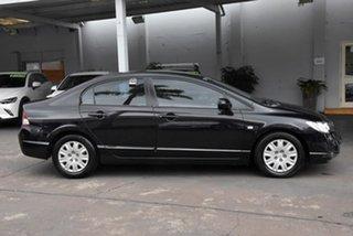 2007 Honda Civic 8th Gen MY07 VTi Black 5 Speed Automatic Sedan.