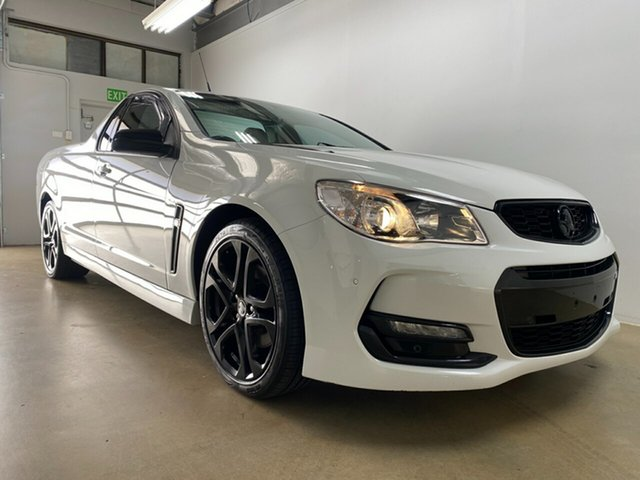 Used Holden Ute Vfii MY16 SS Black Edition Phillip, 2016 Holden Ute Vfii MY16 SS Black Edition White 6 Speed Manual Utility