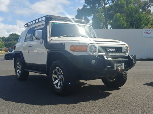 Pre-Owned Toyota FJ Cruiser GSJ15R Ferntree Gully, 2013 Toyota FJ Cruiser GSJ15R French Vanilla 5 Speed Automatic Wagon