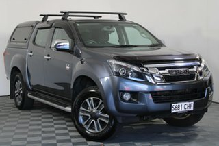 2016 Isuzu D-MAX MY15 LS-U Crew Cab Obsidian Grey M 5 Speed Sports Automatic Utility.